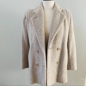 PAVILION 60'S Vintage Wool Herringbone Peacoat